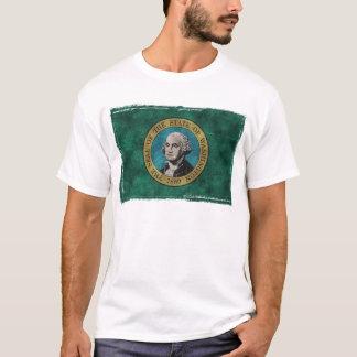 Washington State Flag Grunge T-Shirt