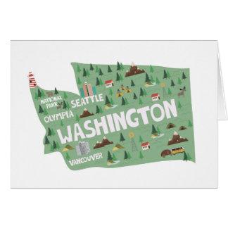 Washington State Landmarks Notecards Card