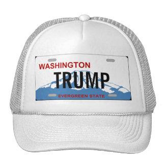 Washington state license plate Trump custom design Cap