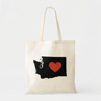 Washington State Love Book Bag or Travel Tote