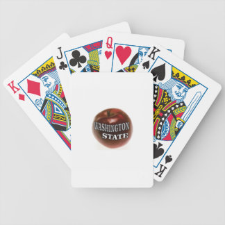 Washington state red apple bicycle playing cards