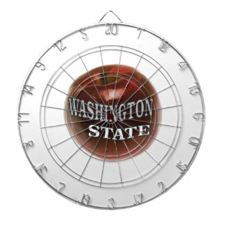 Washington state red apple dartboard