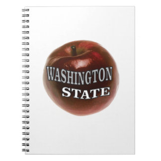 Washington state red apple notebook
