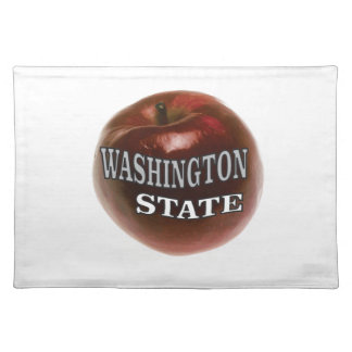 Washington state red apple placemat