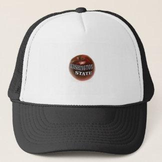 Washington state red apple trucker hat