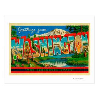 Washington - The Evergreen State Postcard