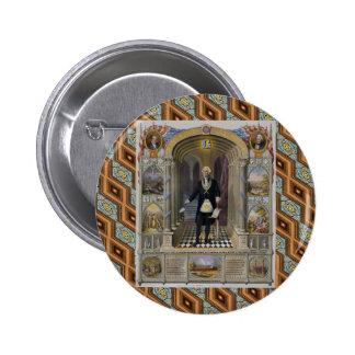 Washington The Mason II 6 Cm Round Badge