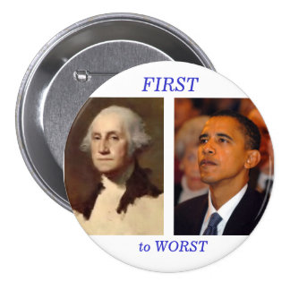 Washington to Obama 7.5 Cm Round Badge