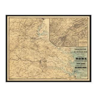 Washington to Richmond Civil War Map (1864) Canvas Prints