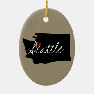 Washington Town Ceramic Ornament
