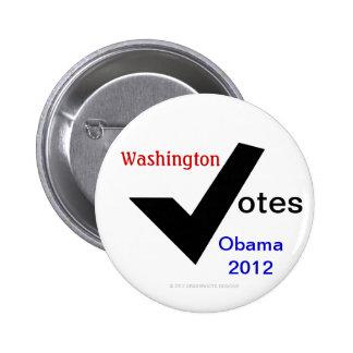 Washington Votes Obama 2012 6 Cm Round Badge