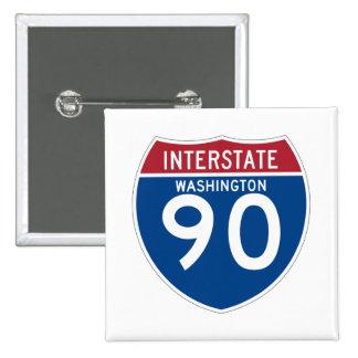 Washington WA I-90 Interstate Highway Shield - 15 Cm Square Badge