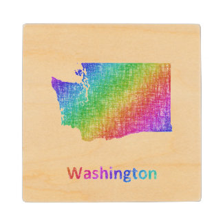 Washington Wood Coaster