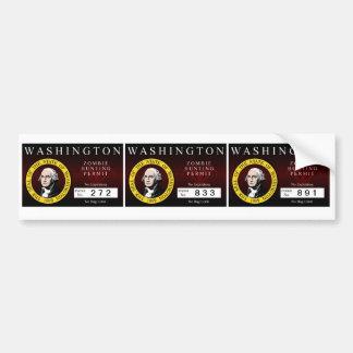 Washington Zombie Hunting Permit V.2 Bumper Sticker