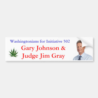 Washingtonians for Initiative 502 Bumper Sticker