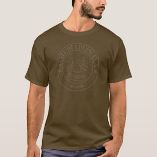 Washout Louisiana State Seal T-Shirt