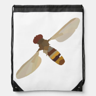 wasp bee insect nature science animal cute yellow drawstring backpack
