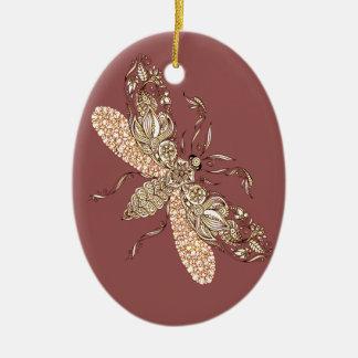Wasp Ceramic Ornament