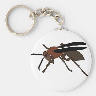 Wasp Drawing Key Ring