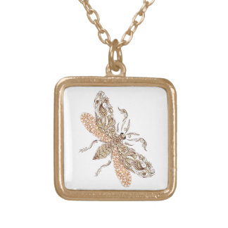 Wasp Gold Plated Necklace