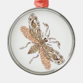 Wasp Metal Ornament