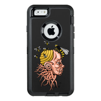 wasp nest - head shape design OtterBox defender iPhone case