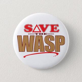 Wasp Save 6 Cm Round Badge