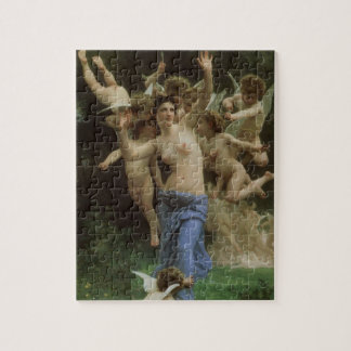 Wasp's Nest by Bouguereau, Victorian Angels Art Jigsaw Puzzle