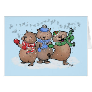 Wassailing Wombats Card
