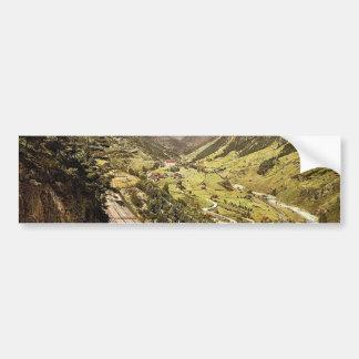 Wassen, view of the Three Tracks, St. Gotthard Rai Bumper Sticker