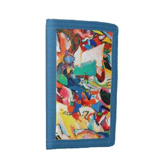 Wassily Kandinsky Angel Blue TriFold Nylon Wallet