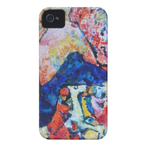 Wassily Kandinsky horse rider blue mountains iPhone 4 Case