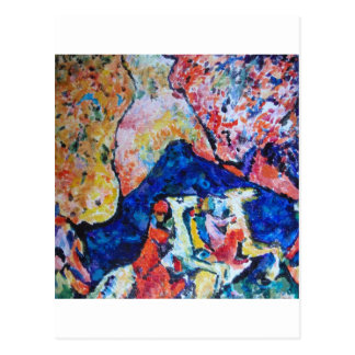 Wassily Kandinsky horse rider blue mountains Post Card