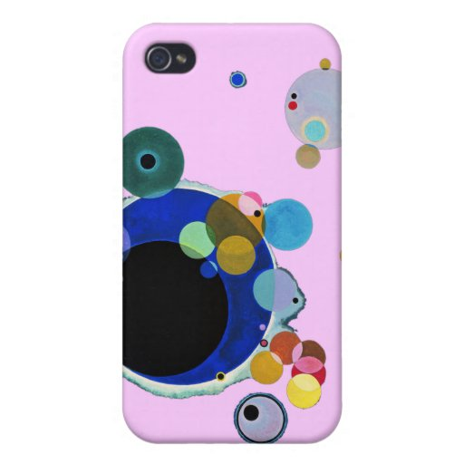 Wassily Kandinsky, Several Circles Cases For iPhone 4