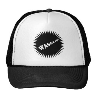 WASSUP Hat in blk/white