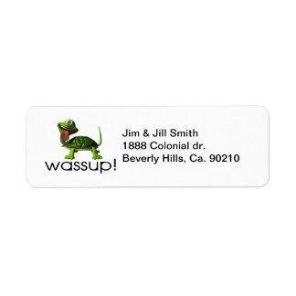 Wassup Turtle Return Address Label