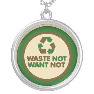 Waste not want not necklaces