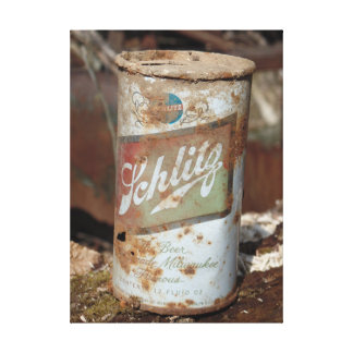 Wasted away vintage can canvas print