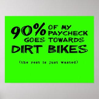 Wasted Money Dirt Bikes Motocross Poster