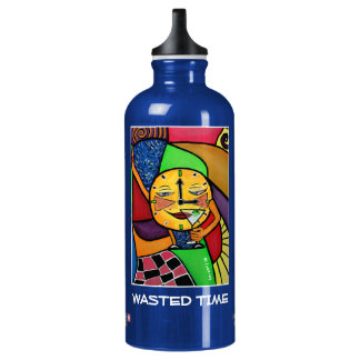 Wasted Time - Blue  - Time Pieces Water Bottle