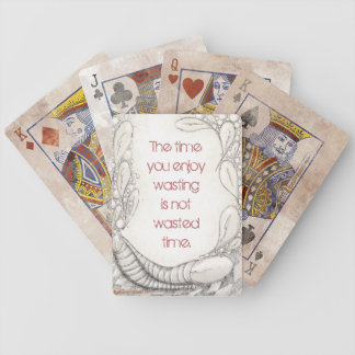 """""""Wasted Time?"""" Distressed Edition Poker Deck"""
