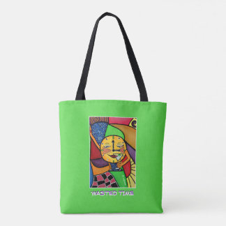 Wasted Time - Green - Time Pieces Tote Bag