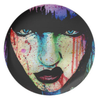 Wasted Youth - Pop Art Horror Portrait Plates