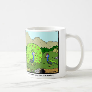 Wasting your time: Peacock Cartoon Coffee Mug