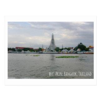Wat Arun Thailand tourist attraction postcard