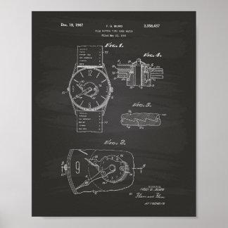 Watch 1966 Patent Art - Chalkboard Poster