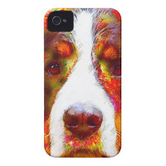 """WATCH""-Bernese Mountain Dog iPhone 4 Case"
