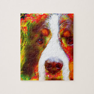 """WATCH""-Bernese Mountain Dog Jigsaw Puzzle"