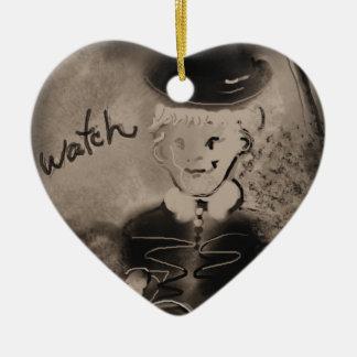 watch ceramic heart decoration