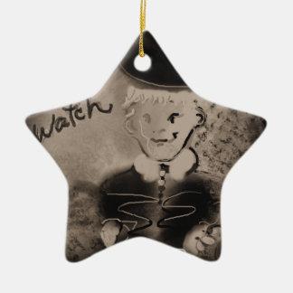 watch ceramic star decoration